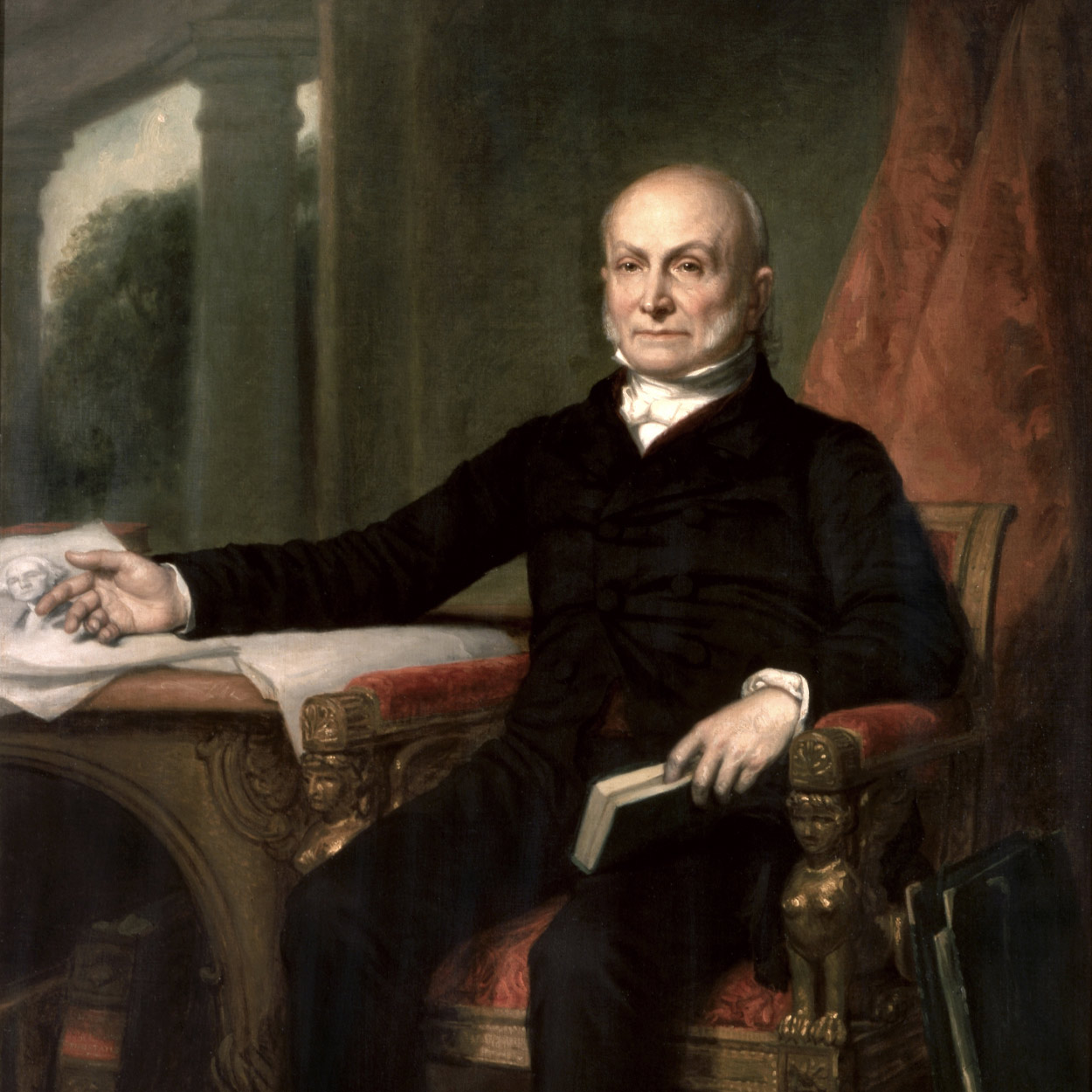 Portrait of John Quincy Adams, the 6th President of the United States