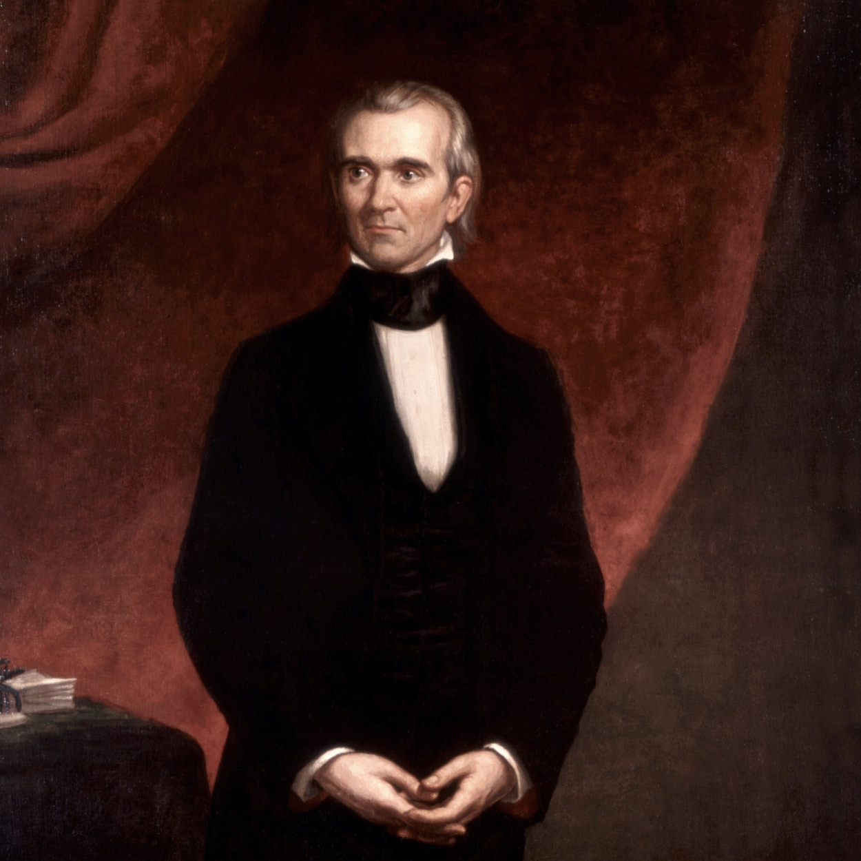 Portrait of James K. Polk, the 11th President of the United States