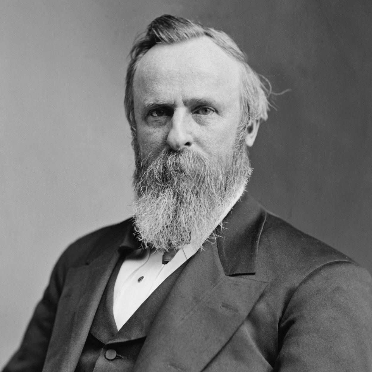 Portrait of Rutherford B. Hayes, the 19th President of the United States