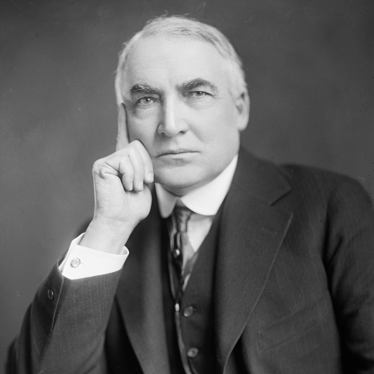 Portrait of Warren G. Harding, the 29th President of the United States