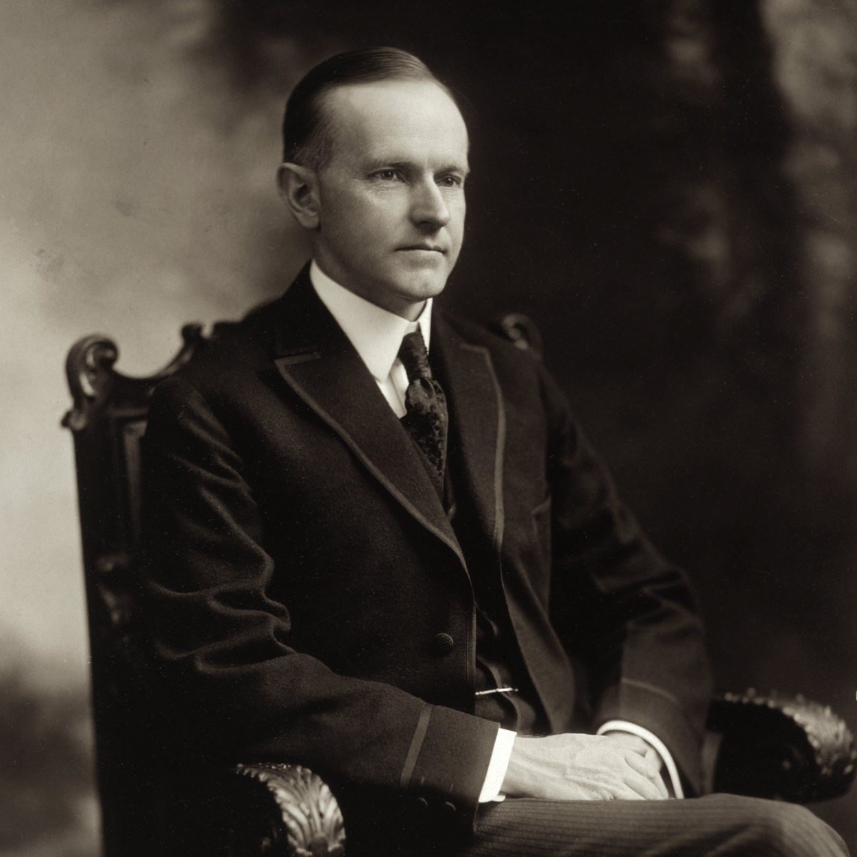 Portrait of Calvin Coolidge, the 30th President of the United States