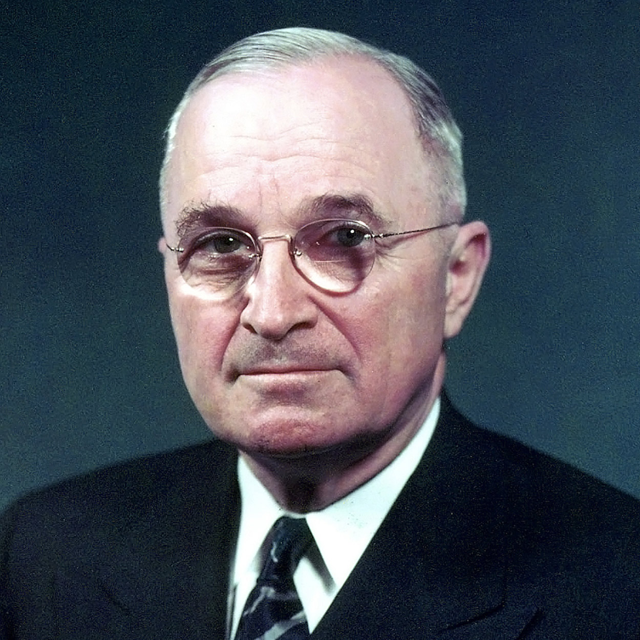 Portrait of Harry S. Truman, the 33rd President of the United States