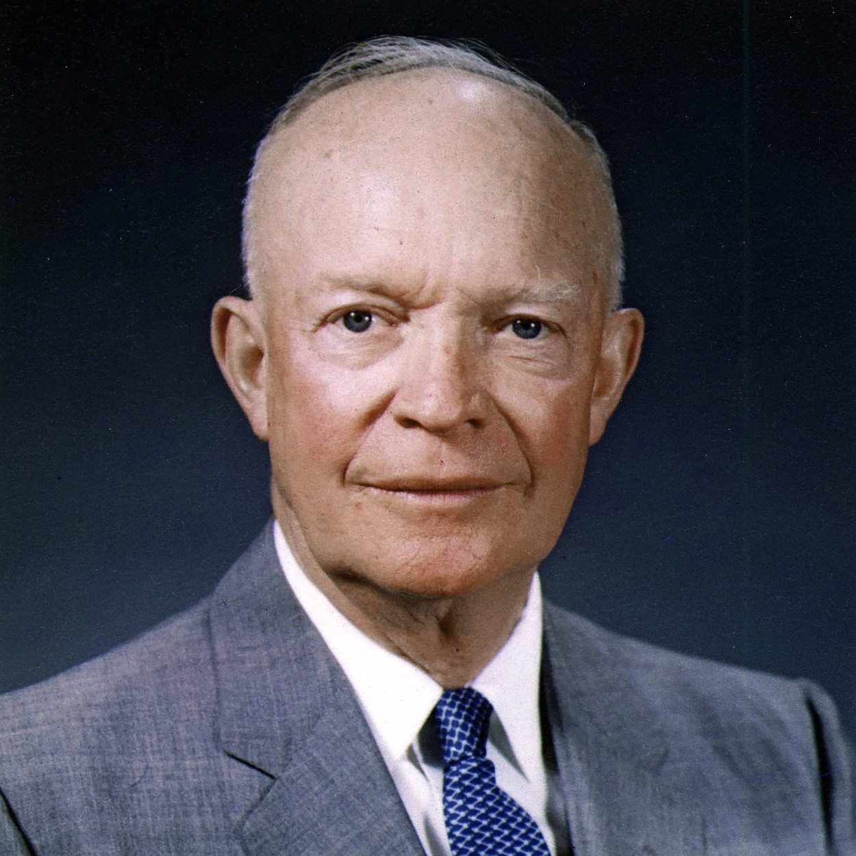 Portrait of Dwight D. Eisenhower, the 34th President of the United States