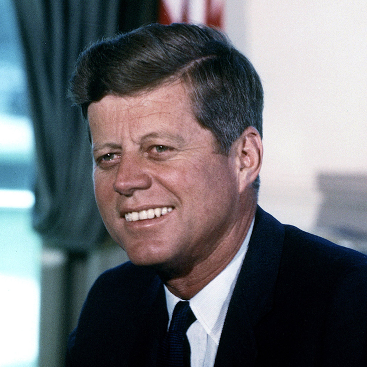 Portrait of John F. Kennedy, the 35th President of the United States