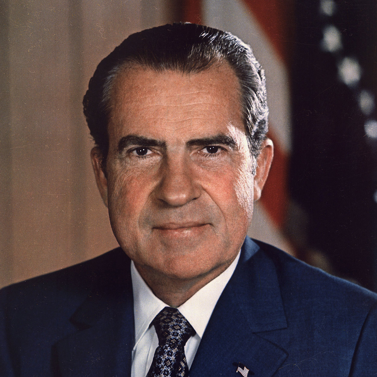 Portrait of Richard M. Nixon, the 37th President of the United States