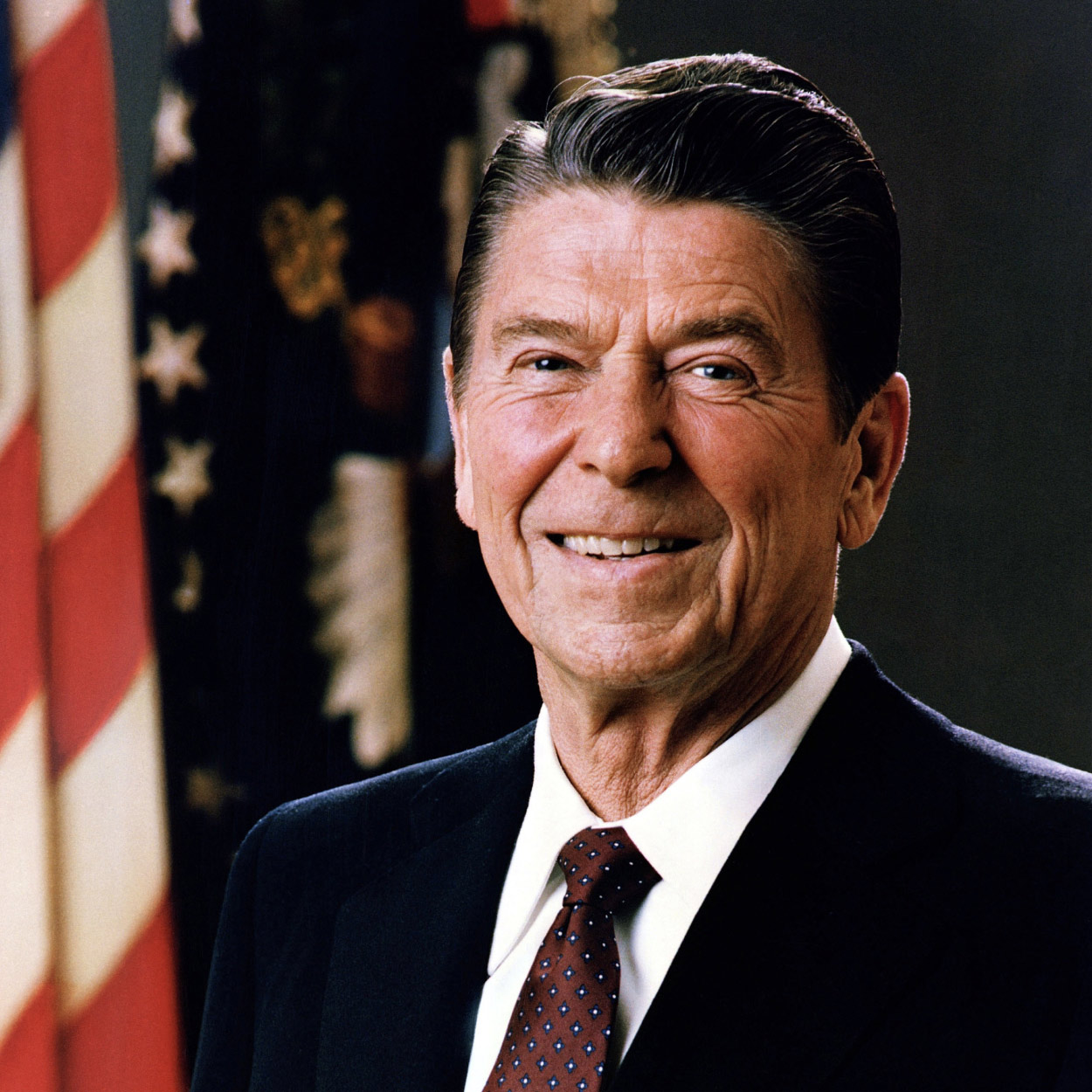 Portrait of Ronald Reagan, the 40th President of the United States