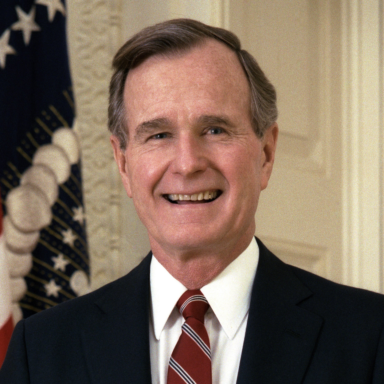 Portrait of George H. W. Bush, the 41st President of the United States