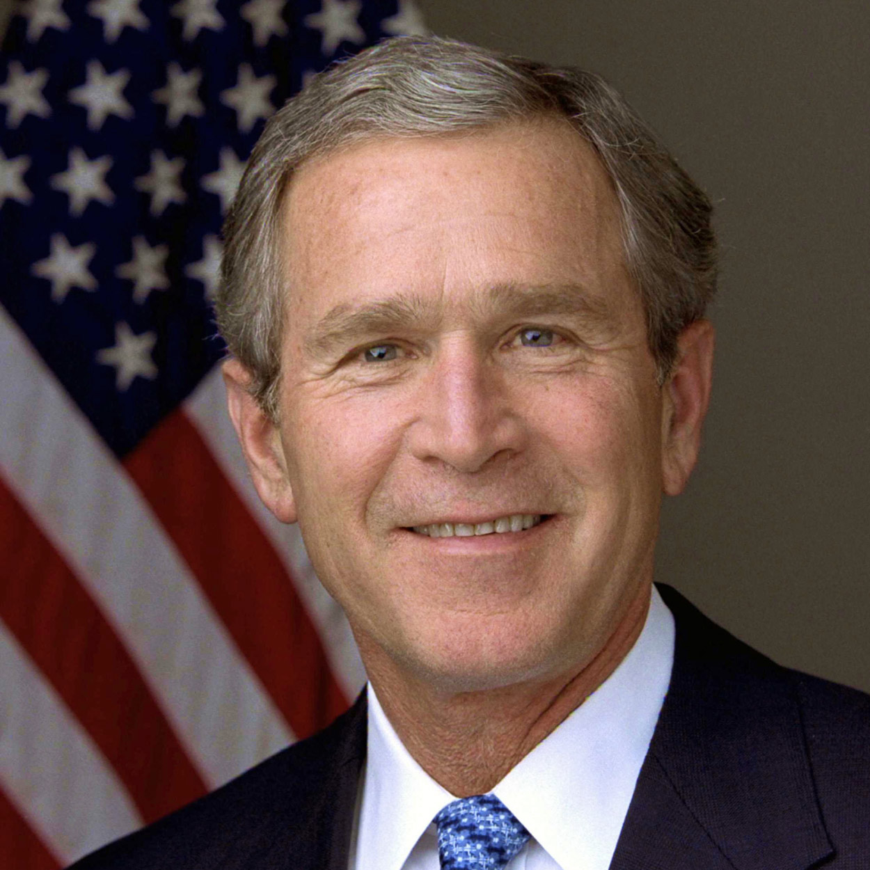Portrait of George W. Bush, the 43rd President of the United States