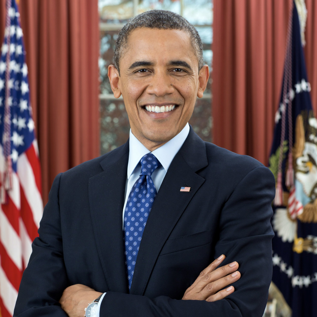 Portrait of Barack Obama, the 44th President of the United States