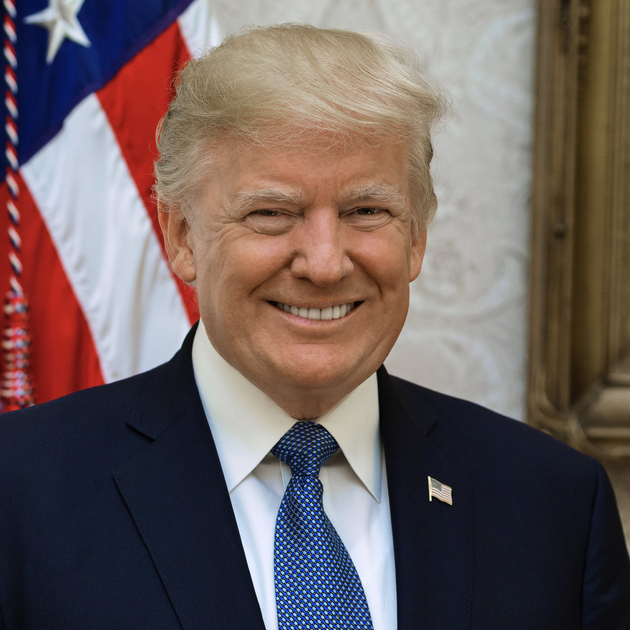 Portrait of Donald J. Trump, the 45th President of the United States