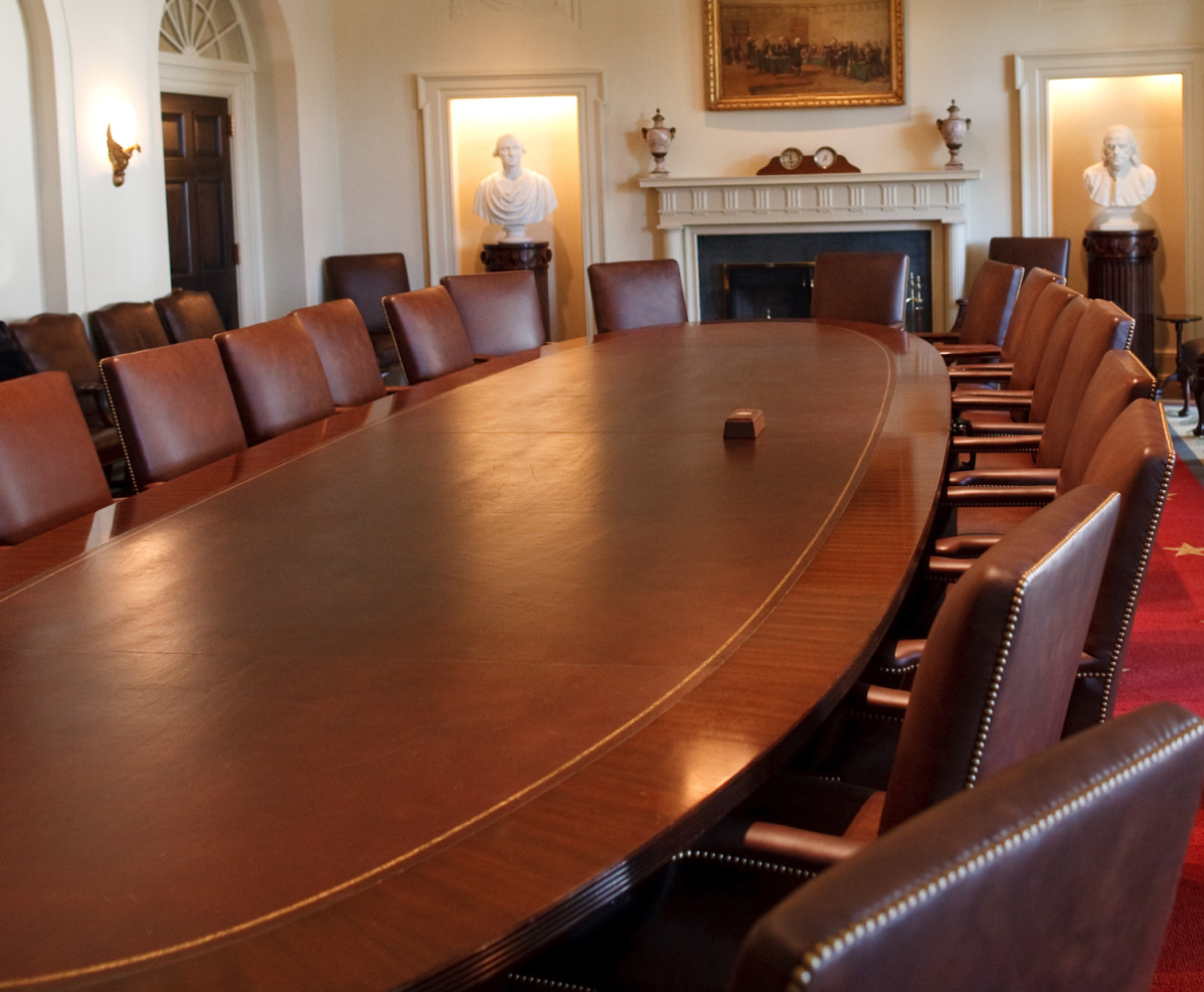 Image is of the cabinet's conference room.